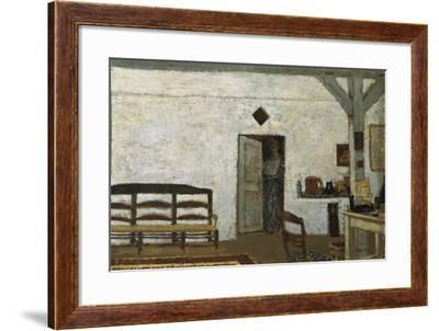 Misia in Villeneuve-Sur-Yonne-Edouard Vuillard-Framed Art Print