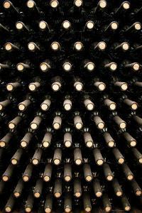 Wine Bottles In Wine Cellar by miskokordic