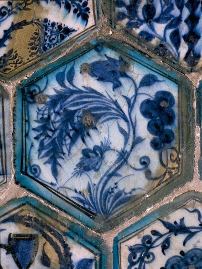 Mismatched Iznik Style Tiles from a Wall Panel--Giclee Print