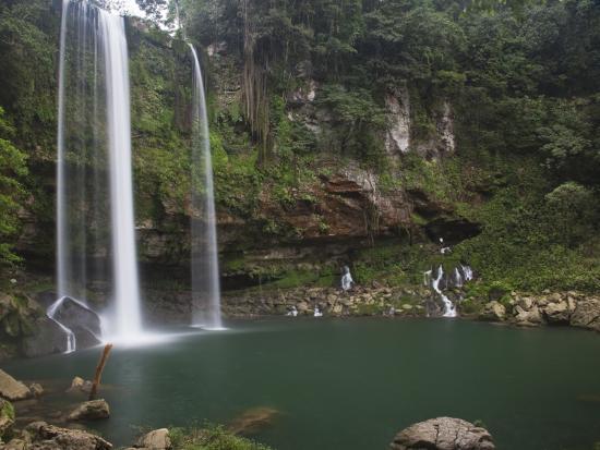 Misol-Ha Waterfall Near Palenque-Sean Caffrey-Photographic Print