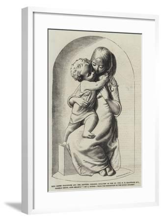 Miss Agnes Gladstone and Her Brother Herbert--Framed Giclee Print