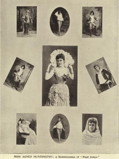 "Miss Agnes Huntington; a Reminiscence of ""Paul Jones""--Photographic Print"