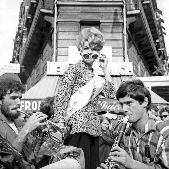 Miss Boul Mich (Boulevard St Michel)Paris, 11 July 1965--Photo