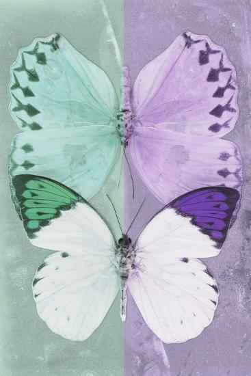 Miss Butterfly Duo Formoia - Coral Green & Mauve-Philippe Hugonnard-Photographic Print