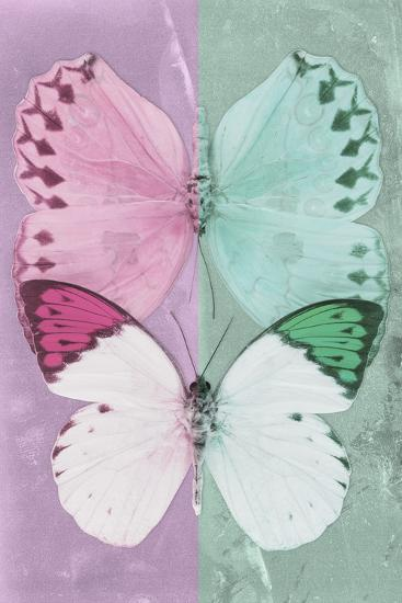 Miss Butterfly Duo Formoia - Pink & Coral Green-Philippe Hugonnard-Photographic Print