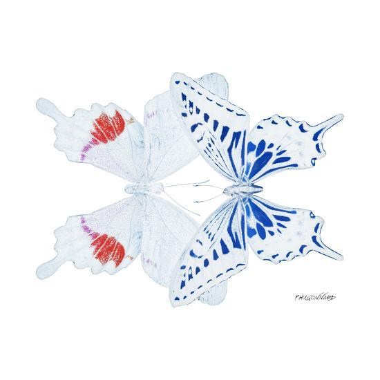 Miss Butterfly Duo Parisuthus Sq - X-Ray White Edition-Philippe Hugonnard-Photographic Print