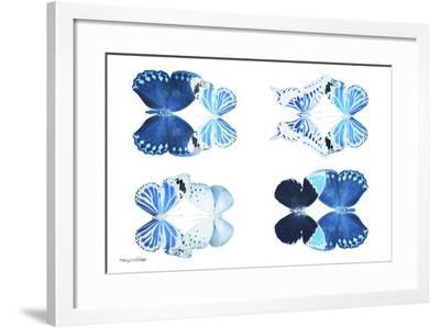 Miss Butterfly X-Ray Duo White IV-Philippe Hugonnard-Framed Photographic Print