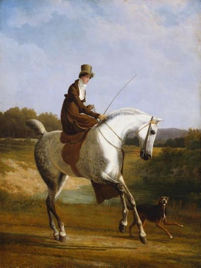 Miss Cazenove on a Grey Hunter-Jacques Laurent Agasse-Giclee Print
