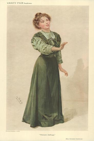 Miss Christabel Pankhurst-Sir Leslie Ward-Giclee Print
