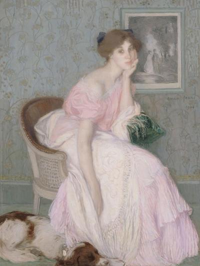 Miss Ella Carmichael-Edmond François Aman-Jean-Giclee Print