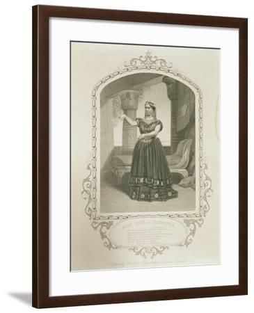 Miss Glyn as Cleopatra, Act II Scene 5, in Antony and Cleopatra by William Shakespeare--Framed Giclee Print