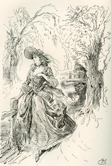 Miss Haredale. Illustration by Harry Furniss for the Charles Dickens Novel Barnaby Rudge--Giclee Print