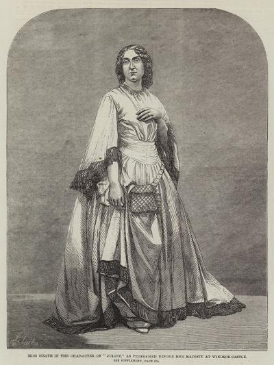 Miss Heath in the Character of Juliet, as Performed before Her Majesty at Windsor Castle--Giclee Print