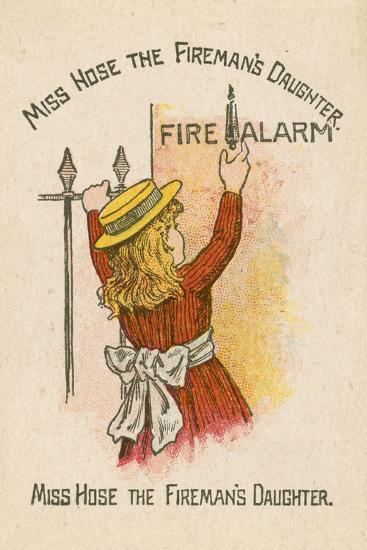 Miss Hose the Fireman's Daughter--Giclee Print