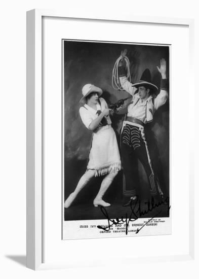 Miss Ivy Shilling and Mr Ernest Marini in Maggie-Lantern Press-Framed Art Print