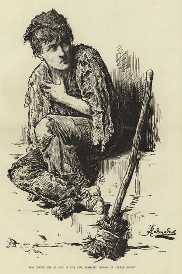 Miss Jennie Lee as Jo, in the New Dramatic Version of Bleak House--Giclee Print
