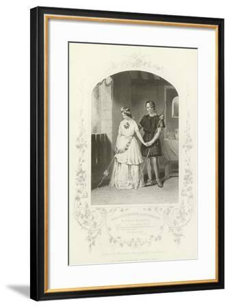 Miss Jenny Marston and Mr F Robinson as Florizel and Perdita, the Winter's Tale, Act Iv, Scene Iii--Framed Giclee Print