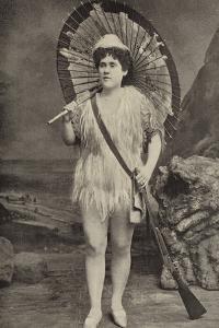 Miss Jessie Preston, as Robinson Crusoe, at the Grand Theatre, Islington