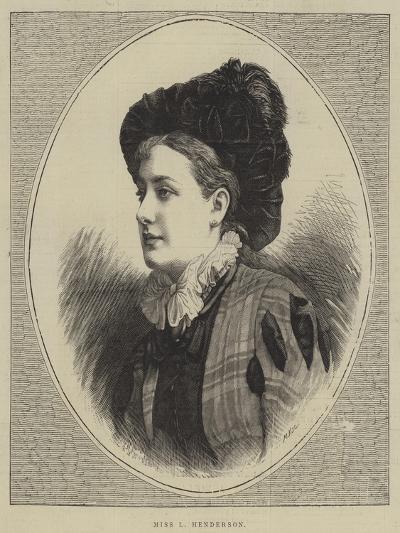 Miss L Henderson--Giclee Print