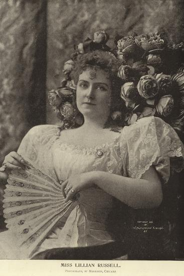 Miss Lillian Russell--Photographic Print