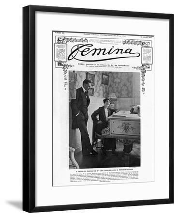 Miss Lina Cavalieri to M. Winthrop-Chanler--Framed Giclee Print