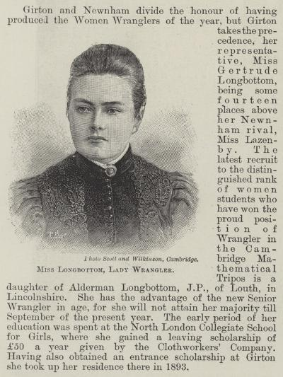 Miss Longbottom, Lady Wrangler--Giclee Print