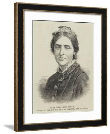 Miss Marianne North, Donor of the Botanic Picture Gallery, Kew Gardens--Framed Giclee Print