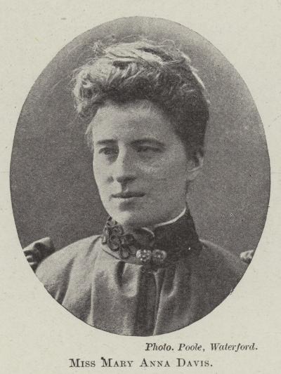 Miss Mary Anna Davis--Giclee Print