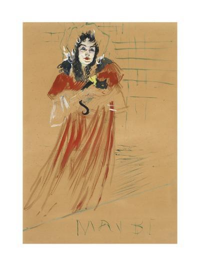Miss May Belfort, 1895 (Peinture a L'Essence, Gouache on Paper Laid Down on Canvas)-Henri de Toulouse-Lautrec-Giclee Print