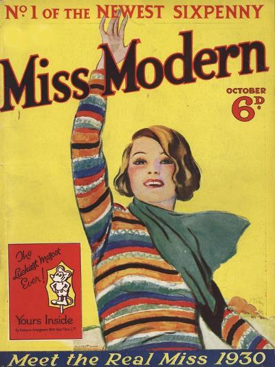 Miss Modern, First Issue Teenagers Magazine, UK, 1930--Giclee Print