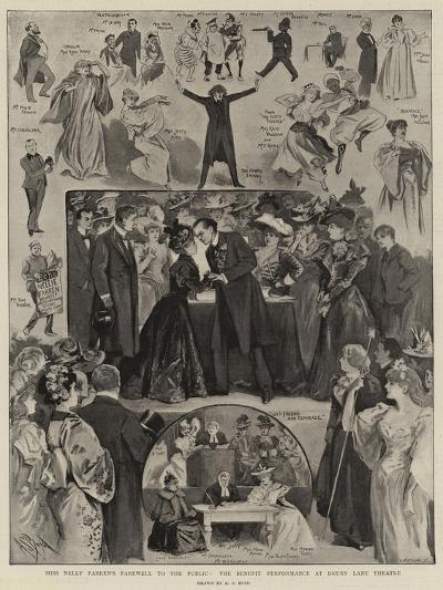 Miss Nelly Farren's Farewall to the Public, the Benefit Performance at Drury Lane Theatre-Alexander Stuart Boyd-Giclee Print