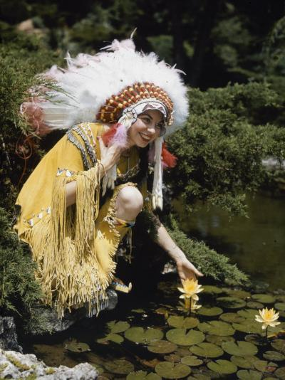 Miss Oklahoma of 1940 Poses in American Indian Attire-B^ Anthony Stewart-Photographic Print