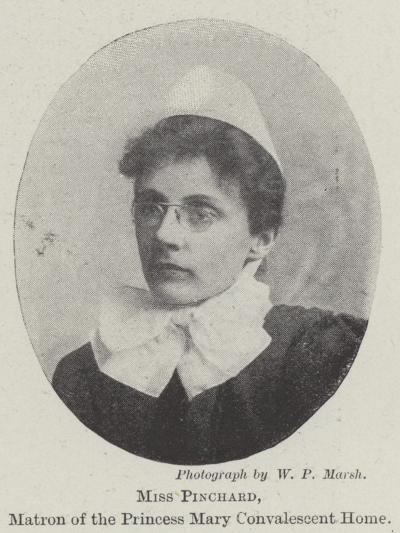 Miss Pinchard, Matron of the Princess Mary Convalescent Home--Giclee Print