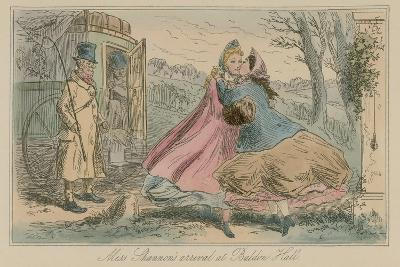 Miss Shannon's Arrival at Baldon Hall-Hablot Knight Browne-Giclee Print