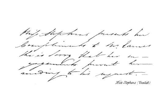 Miss Stephens--Giclee Print