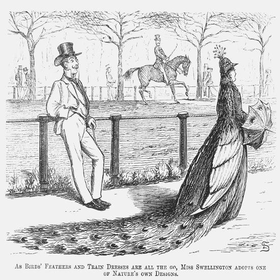 Miss Swellington Taking a Walk, 1867-Edward Linley Sambourne-Giclee Print