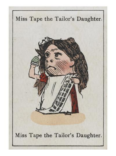 """Miss Tape the Tailor's Daughter, from """"Happy Families""""--Giclee Print"""
