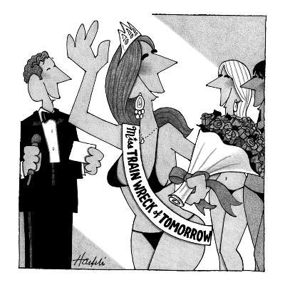 Miss Train Wreck of Tomorrow pageant. - New Yorker Cartoon-William Haefeli-Premium Giclee Print