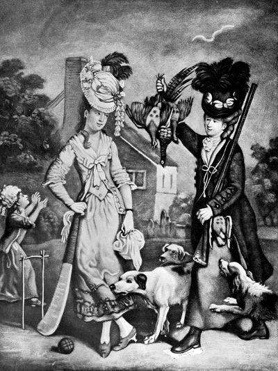 Miss Wicket and Miss Trigger, 1770-John Collet-Giclee Print