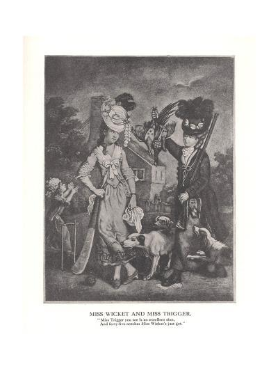 Miss Wicket and MissTrigger, c1778 (1912)--Giclee Print