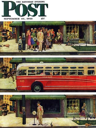 """Missed the Bus,"" Saturday Evening Post Cover, September 10, 1949-Thornton Utz-Giclee Print"