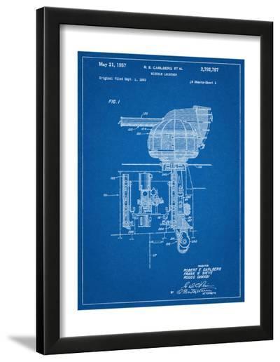 Missile Launcher Patent--Framed Art Print