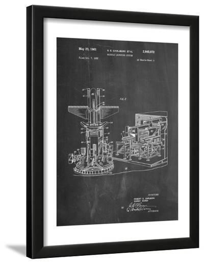 Missile Launching System Patent--Framed Art Print