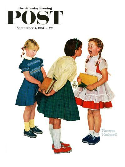 """""""Missing tooth"""" Saturday Evening Post Cover, September 7,1957-Norman Rockwell-Giclee Print"""