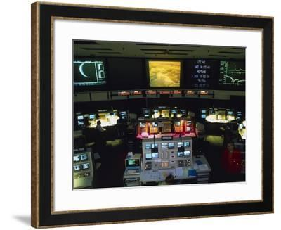Mission Control At JPL, Pasadena, California-David Parker-Framed Photographic Print