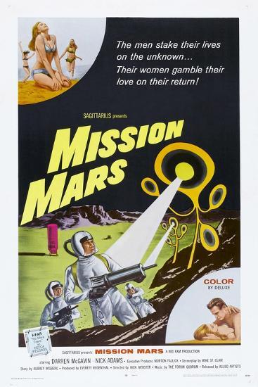 MISSION MARS, US poster, bottom right: Nick Adams, Heather Hewitt, 1968--Art Print