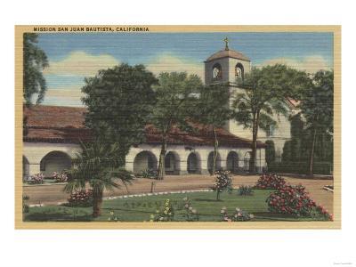 Mission San Juan Bautista, California - San Juan Bautista, CA-Lantern Press-Art Print