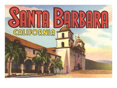 Mission, Santa Barbara, California--Art Print