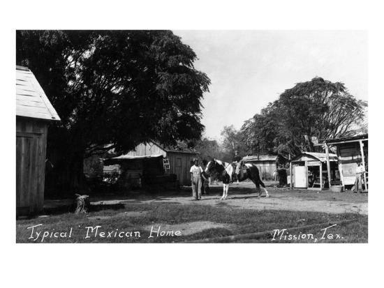 Mission, Texas - Typical Mexican Home-Lantern Press-Art Print