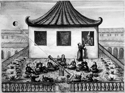 Missionaries Showing the King of Siam a Solar Eclipse--Giclee Print